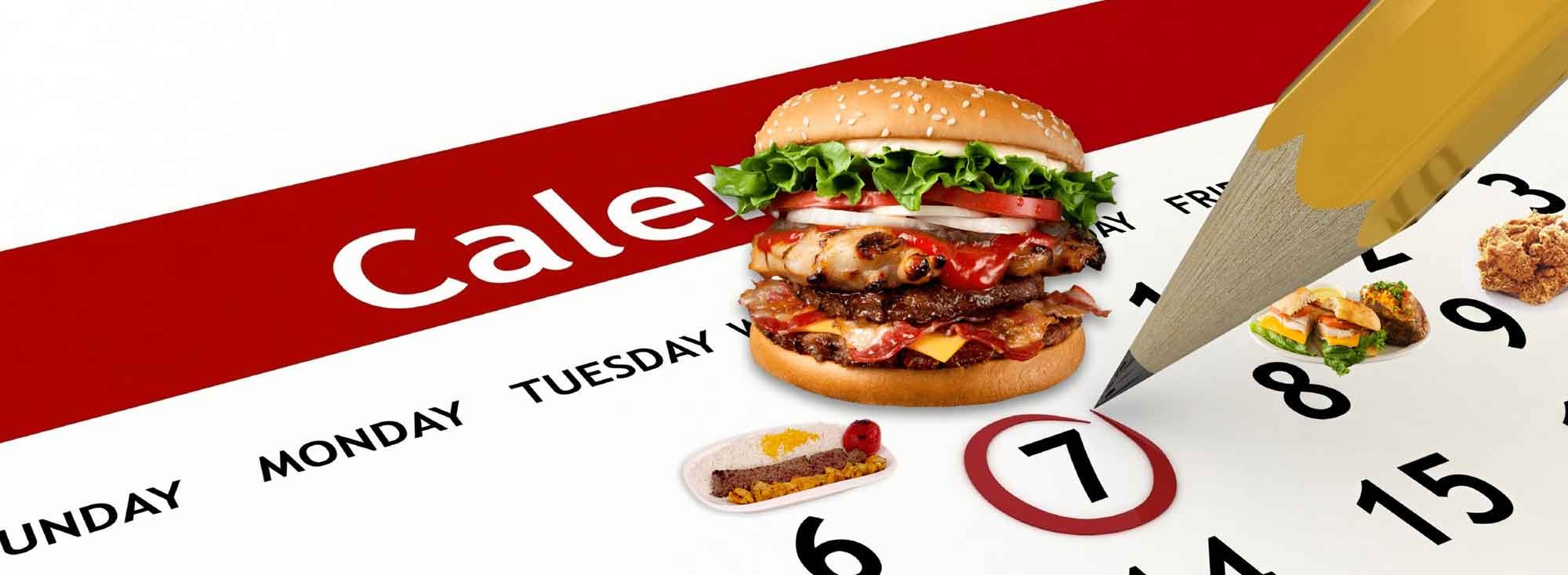 تقویم خوراکی : هر روز یک غذای جدید