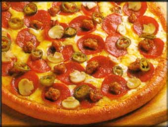 پیتزا گوشت و قارچ