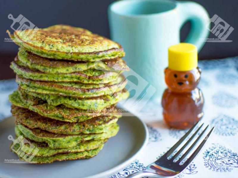 صبحانه پنکیک اسفناج