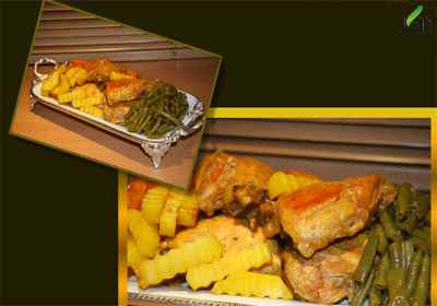 خوراک خوراک مرغ و حبوبات