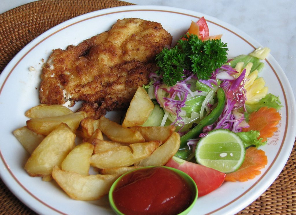 خوراک شنسل مرغ